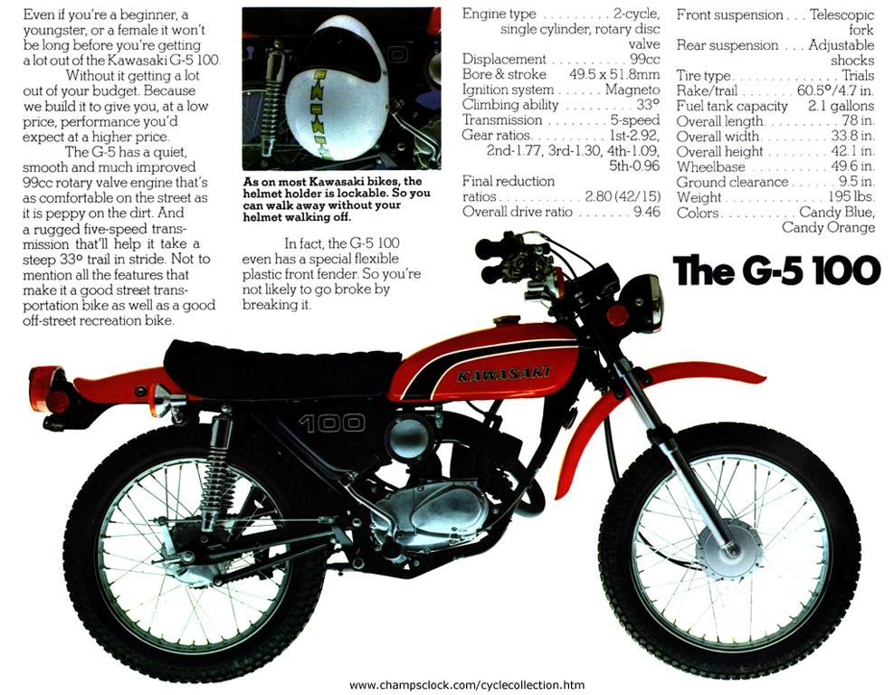 my motorcycle collection then and now rh champsclock com 2001 Kawasaki KE100 Parts 2001 Kawasaki KE100 Parts